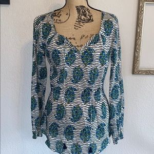 Tory Burch Evelina Voile Tunic Size 6